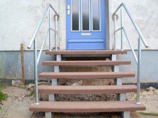 Treppen aus Stahl im Außenbereich